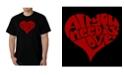 LA Pop Art Men's All You Need is Love Word Art T-Shirt