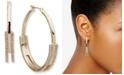"DKNY Gold-Tone Medium Pavé Split Hoop Earrings, 1.7"""
