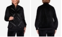 Alfred Dunner Women's Plus Size Modern Living Velour Grommet Jacket