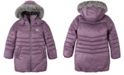 Calvin Klein Big Girls Shimmer Puffer Jacket