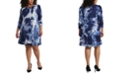 MSK Plus Size Tie-Dyed Shift Dress