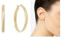 "Charter Club Medium Gold-Tone Band Hoop Earrings, 1"""