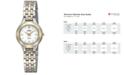 Seiko Women's Solar Two-Tone Stainless Steel Bracelet Watch 22mm SUP210