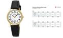 Seiko Women's Solar Dress Black Leather Strap Watch 26mm SUP304