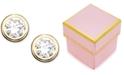 Macy's Children's 14k Gold Cubic Zirconia Bezel Earring