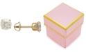 Macy's Children's Cubic Zirconia Screwback Stud Earrings in 14k Gold
