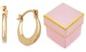 Macy's Children's Small Round Hoop Earrings in 14k Gold