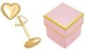 Macy's Children's High Polished Puff Heart Stud Earrings in 14k Gold