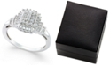 Promised Love Diamond Square Cluster Promise Ring (1/2 ct. t.w.) in Sterling Silver