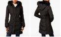 Calvin Klein Water-Resistant Faux-Fur-Trim Puffer Coat