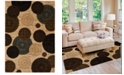 """KM Home CLOSEOUT! Sanford Comet Wheat 5'3"""" x 7'7"""" Area Rug, Created for Macy's"""