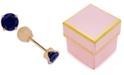Macy's Children's Cubic Zirconia September Birthday Reversible Earrings in 14k Gold