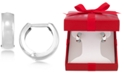 Macy's Polished Wide Hoop Earrings in 14k White Gold, Gold or Rose Gold