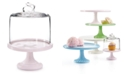 Martha Stewart Collection CLOSEOUT! Roseite Cake Stand with Glass Bunny Dome, Created for Macy's