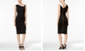 Calvin Klein Contrast-Collar Sheath Dress