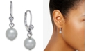 Charter Club Pavé & Imitation Pearl Drop Earrings, Created for Macy's
