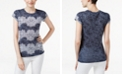 INC International Concepts INC Lace-Print Burnout T-Shirt, Created for Macy's
