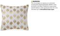 """INK+IVY Nadia Embroidered Dot 18"""" Square Decorative Pillow"""