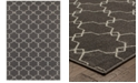 """JHB Design CLOSEOUT!  Soleil Jagged Charcoal 9'10"""" x 12'10"""" Indoor/Outdoor Area Rug"""