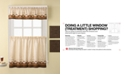 """CHF Café Au Lait 56"""" x 36"""" Window Tier & Valance Set"""