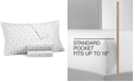 Martha Stewart Collection CLOSEOUT! 4-Pc Printed Sheet Sets, 400 Thread Count 100% Cotton Percale, Created for Macy's