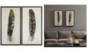 JLA Home Urban Habitat Gilded Feathers 2-Pc. Foil-Embellished Canvas Print Set