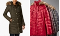 Michael Kors Faux-Fur-Trim Hooded Puffer Coat, Created for Macy's