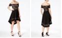 City Studios Juniors' Off-The-Shoulder High-Low Dress
