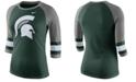 Nike Women's Michigan State Spartans Team Stripe Logo Raglan T-Shirt