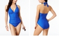 Lauren Ralph Lauren Tummy Control Halter One-Piece Swimsuit