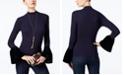 INC International Concepts I.N.C. Petite Velvet Bell-Sleeve Top, Created for Macy's