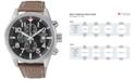 Citizen Men's Chronograph Brown Leather Strap Watch 43mm