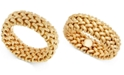 Italian Gold Woven Link Band in 14k Gold