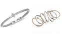 CHARRIOL Women's Debutante White Topaz Bangle Bracelet (5/8 ct. t.w.) in Stainless Steel