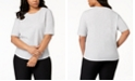 Eileen Fisher Plus Size Organic Cotton Elbow-Sleeve T-Shirt