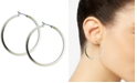 "GUESS 1 1/2"" Gold-Tone Square Edge Hoop Earrings"