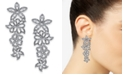 INC International Concepts I.N.C. Woman Silver-Tone Pavé Flower Statement Earrings, Created for Macy's