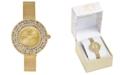 Charter Club Women's Gold-Tone Mesh Bracelet Watch 29mm, Created for Macy's