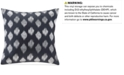 """INK+IVY Nadia 18"""" Square Metallic Ikat Dot-Embroidered Decorative Pillow"""