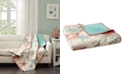 """Madison Park Pebble Beach Oversized Reversible 50"""" x 70"""" Quilted Printed Throw"""