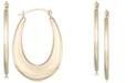 Macy's Polished Graduated Oval Hoop Earrings in 10k Gold