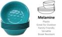 Certified International Teal Set of Melamine 6 All-Purpose Bowls