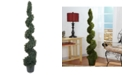 Nearly Natural 5' Cedar Spiral Indoor/Outdoor Artificial Tree