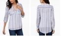 INC International Concepts INC Striped Flap-Pocket Shirt, Created for Macy's