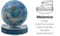 Certified International Radiance Teal Melamine Salad Plates, Set of 6