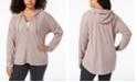 Calvin Klein Plus Size Ruched-Sleeve Zip Hoodie