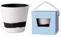 "Wedgwood Burlington  Black & White Pot 4"""