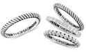 Peter Thomas Roth Peter Thomas Twist Stacking Band in Sterling Silver