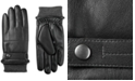Isotoner Signature Men's Faux-Leather Knit-Cuff Gloves