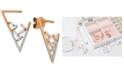 Le Vian Baguette Frenzy™ Diamond Triangle Drop Earrings (3/8 ct. t.w.) in 14k Rose Gold